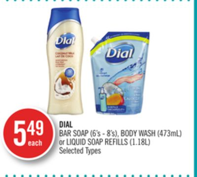 Dial Bar Soap (6's - 8's) - Body Wash (473ml) or Liquid Soap Refills (1.18l)
