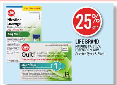 Life Brand Nicotine Patches - Lozenges or GUM