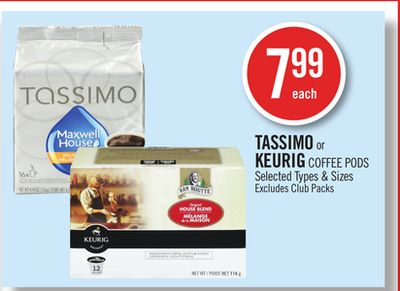 Tassimo or Keurig Coffee PODS