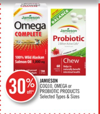Jamieson Coq10 - Omega or Probiotic Products