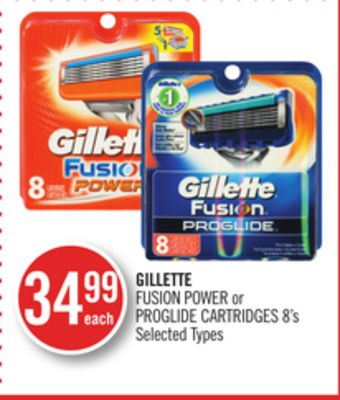 Gillette Fusion Power or Proglide Cartridges