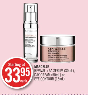 Marcelle Revival +Aa Serum (30ml) - Day Cream (50ml) or Eye Contour (15ml)