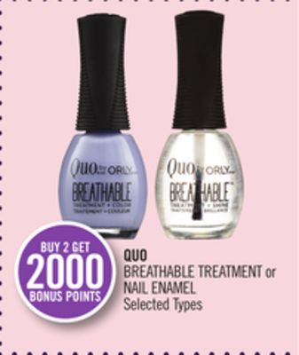 Quo Breathable Treatment or Nail Enamel