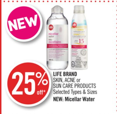 Life Brand Skin - Acne or Sun Care Products