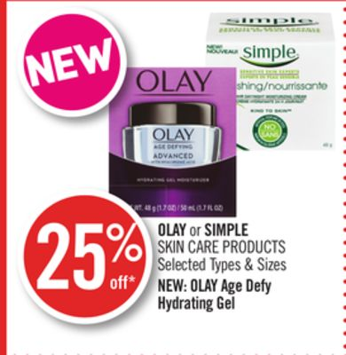 Olay or Simple Skin Care Products