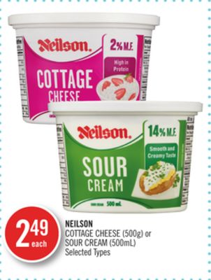 Neilson Cottage Cheese (500g) or Sour Cream (500ml)