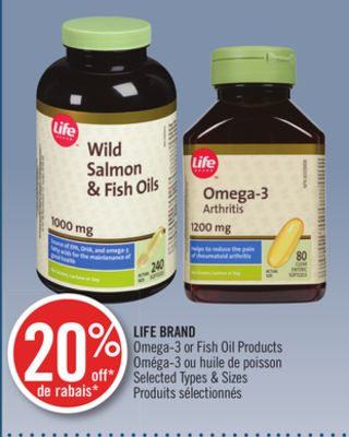 Life brand omega 3 or fish oil on sale for Fish oil brands