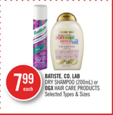 Batiste - Co. Lab Dry Shampoo (200ml) or Ogx Hair Care Products