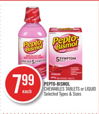 Pepto-bismol Chewables Tablets or Liquid