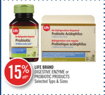 Life Brand Digestive Enzyme or Probiotic Products