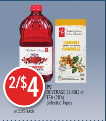 PC Beverage (1.89l) or Tea (20's)