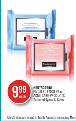 Neutrogena Facial Cleansers or Acne Care Products