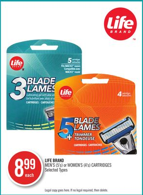 Life Brand Men's (5's) or Women's (4's) Cartridges
