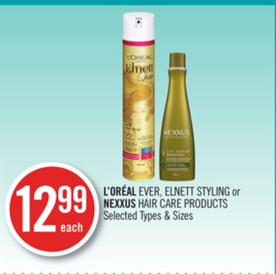L'oréal Ever - Elnett Styling or Nexxus Hair Care Products