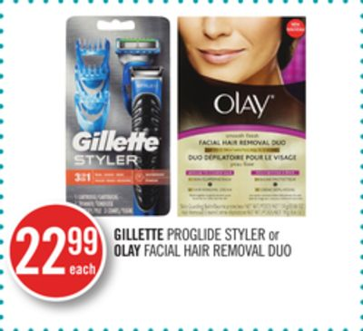 Gillette Proglide Styler or Olay Facial Hair Removal Duo