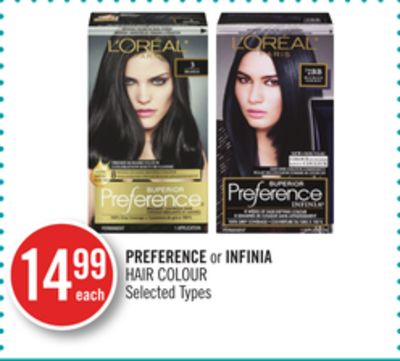 Preference or Infinia Hair Colour