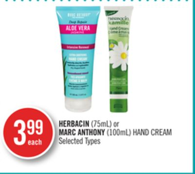 Herbacin (75ml) or Marc Anthony (100ml) Hand Cream