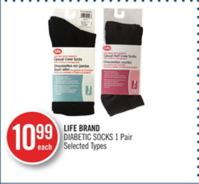 Life Brand Diabetic Socks 1 Pair
