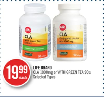 Life Brand Cla 1000mg or With Green Tea