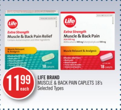 Life Brand Muscle & Back Pain Caplets