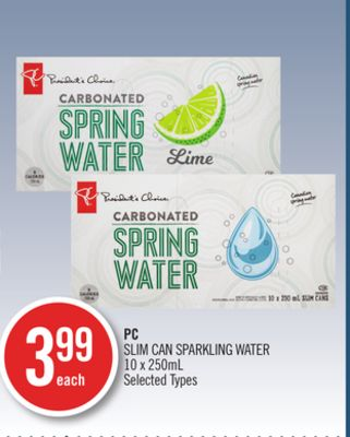 PC Slim Can Sparkling Water