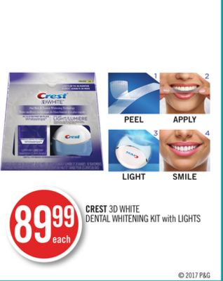 Crest 3D White Dental Whitening Kit With Lights