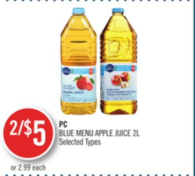 PC Blue Menu Apple Juice