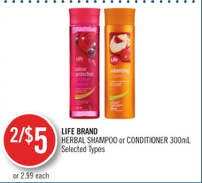 Life Brand Herbal Shampoo or Conditioner