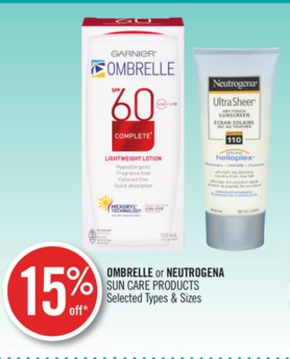 Ombrelle or Neutrogena Sun Care Products