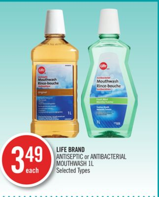 Life Brand Antiseptic or Antibacterial Mouthwash