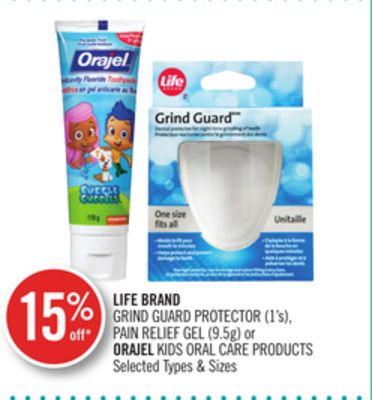 Life Brand Grind Guard Protector (1's) - Pain Relief Gel (9.5g) or Orajel Kids Oral Care Products