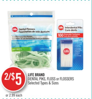 Life Brand Dental Piks - Floss or Flossers