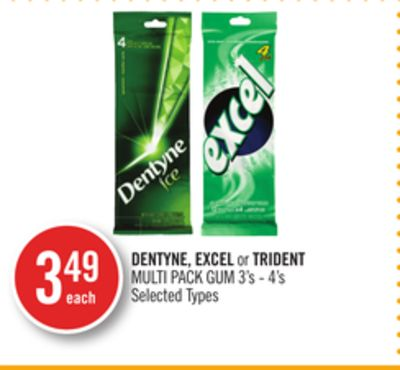 Dentyne - Excel or Trident Multi Pack GUM
