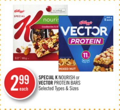 Special K Nourish or Vector Protein Bars