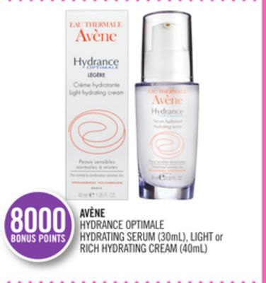 Avène Hydrance Optimale Hydrating Serum (30ml) - Light or Rich Hydrating Cream (40ml)