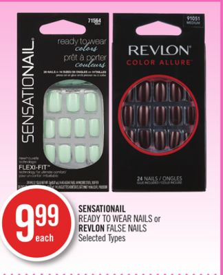 Sensationail Ready To Wear Nails or Revlon False Nails