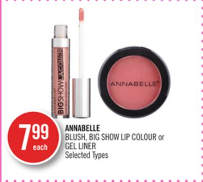 Annabelle Blush - Big Show Lip Colour or Gel Liner