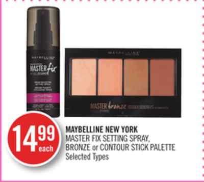 Maybelline New York Master Fix Setting Spray - Bronze or Contour Stick Palette