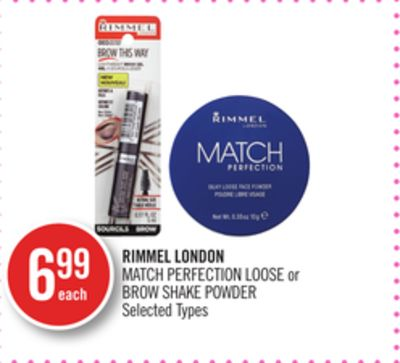 Rimmel London Match Perfection Loose or Brow Shake Powder
