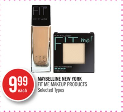 Maybelline New York Fit Me Makeup Products