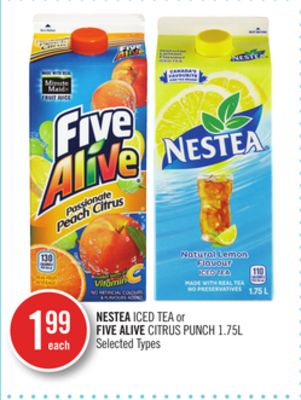 Nestea Iced Tea or Five Alive Citrus Punch