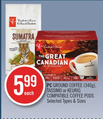 PC Ground Coffee (340g) - Tassimo or Keurig Compatible Coffee PODS