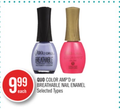Quo Color Amp'd or Breathable Nail Enamel