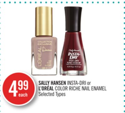 Sally Hansen Insta-dri or L'oréal Color Riche Nail Enamel