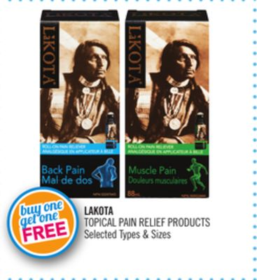 Lakota Topical Pain Relief Products