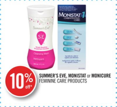 Summer's Eve - Monistat or Monicure Feminine Care Products