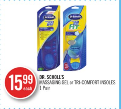 Dr. Scholl's Massaging Gel or Tri-comfort Insoles