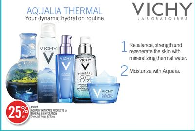Vichy Aqualia Skin Care Products or Minéral 89 Hydration