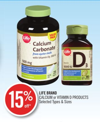 Life Brand Calcium or Vitamin D Products