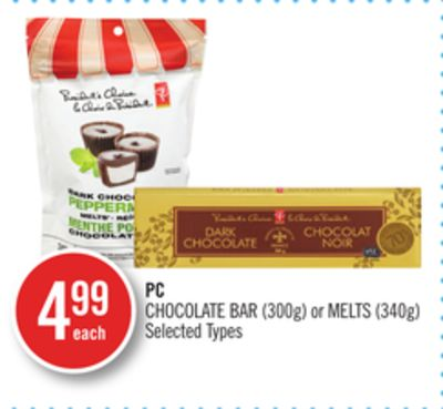 PC Chocolate Bar (300g) or Melts (340g)